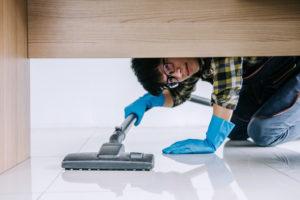 vacuuming hosue